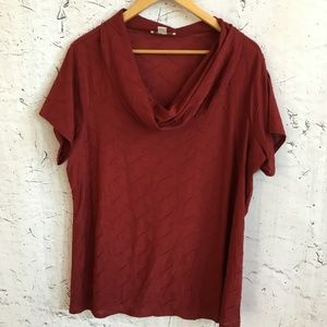 COLDWATER CREEK RED BLOUSE 2X